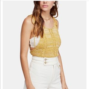 NWT Original package Free People open knit tank L